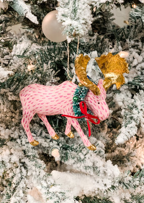 Cody Foster & Co Festive Moose Pink