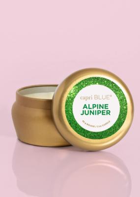 Capri Blue 3oz Glam Mini Tin Alpine Juniper