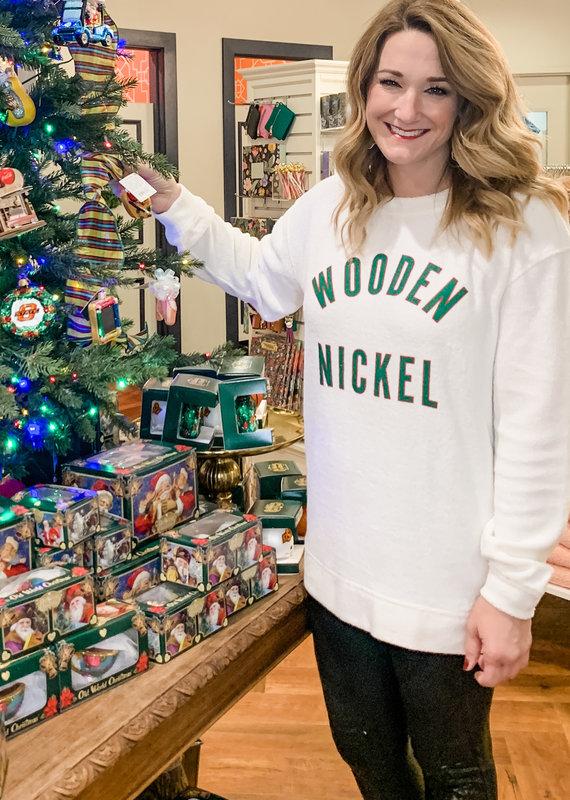 Wooden Nickel Cozy Christmas 2020 Sweatshirt