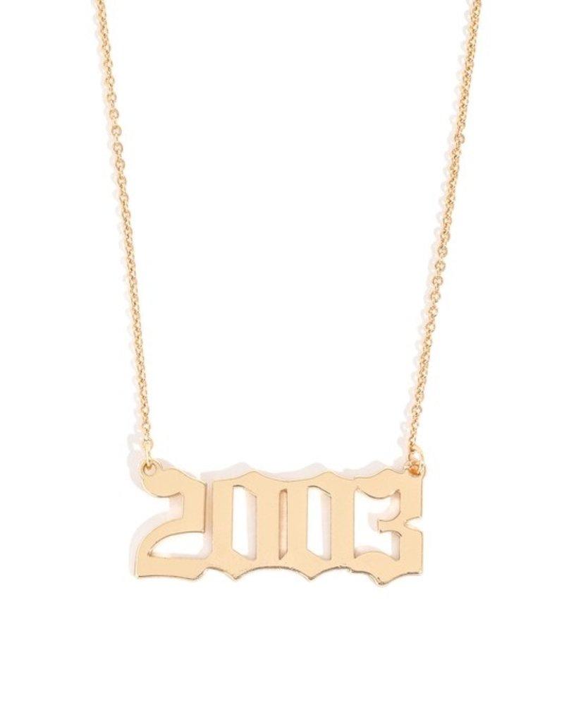 Buffalo Trading Co. Year Necklace 2003