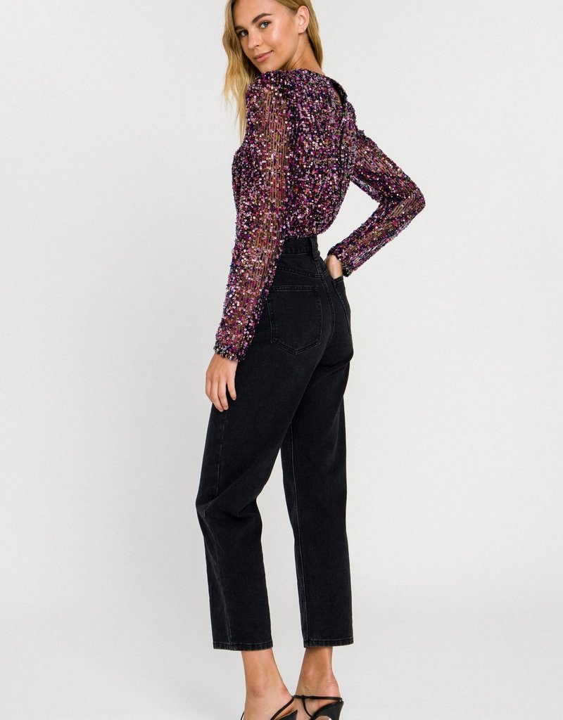 Endless Rose Multi Sequin Top