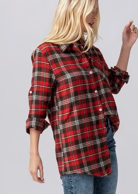 Buffalo Trading Co. Plaid Wrap Blouse