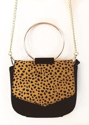 The Sis Kiss Circle Leopard Bag
