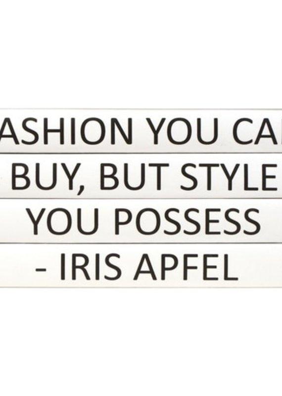 Iris Apfel Quote/Black Cover 4 Vol.
