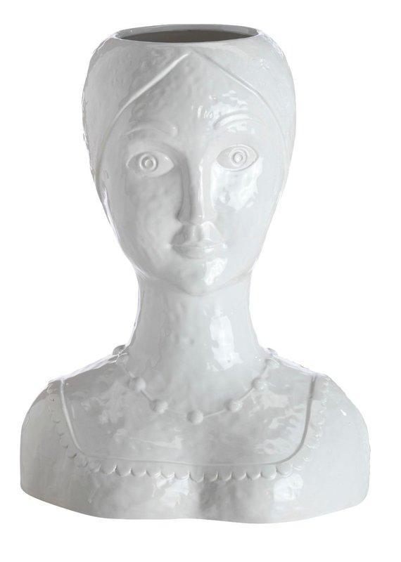 Abigails Female Head Vase White