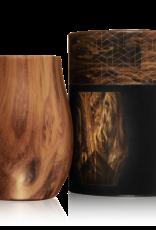 BrüMate NOS'R Insulated Nosing Glass Walnut