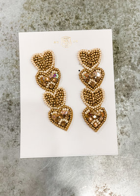 Buffalo Trading Co. Queen Of Hearts Earring Gold