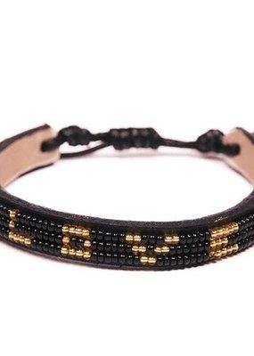 Love Is Project Skinny LOVE Bracelet Black/Gold -Regular
