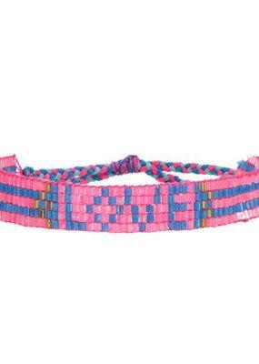 Love Is Project Seed Bead LOVE Bracelet - Pink