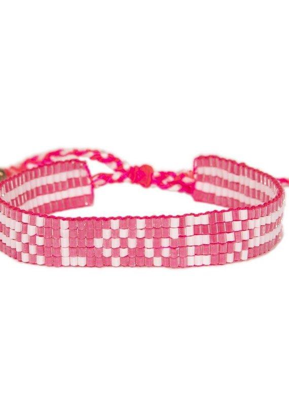Love Is Project Pretty in Pink Bali Seed LOVE Bracelet