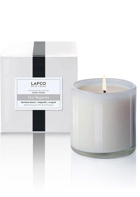 Lafco 6.5oz Classic Candle Star Magnolia - Guest Room