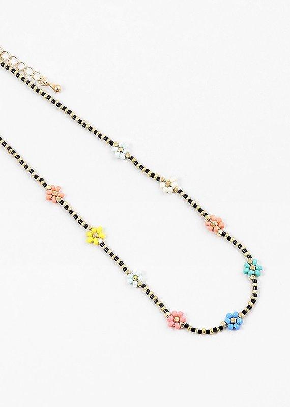 Buffalo Trading Co. Sprung Necklace Black/Gold Daisy