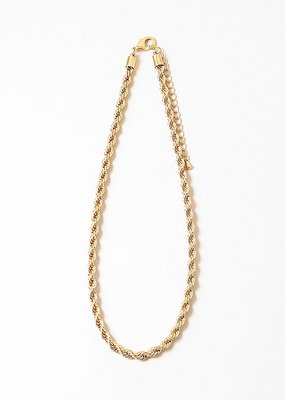 Buffalo Trading Co. Twisted Chain Necklace Gold