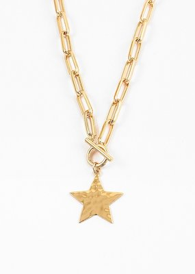Buffalo Trading Co. Shining Bright Star Necklace Gold