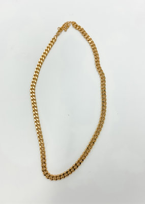 Buffalo Trading Co. Cuban Chain Necklace Gold