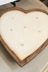 Cedar Mountain Candle 6 Wick Heart Dough Bowl Soy Candle