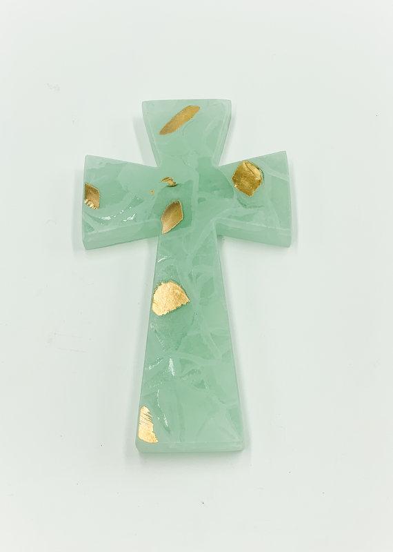 "Annieglass Large Cross 7.25"" x 4"""
