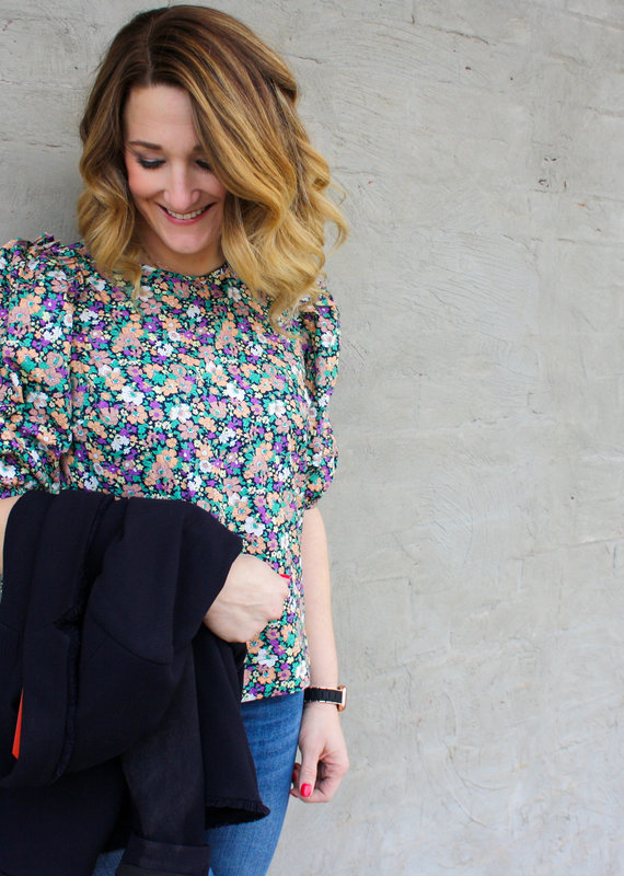 English Factory Now & Then Floral Blouse