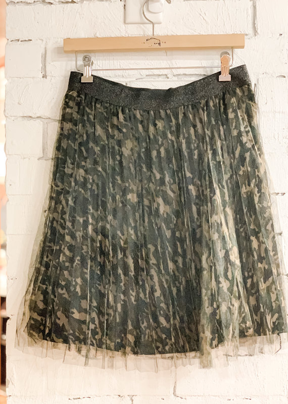 Molly Bracken Printed Tulle Accordian Skirt