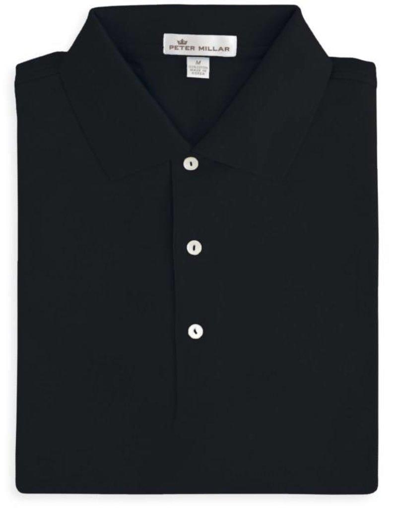 3d302178895 Peter Millar Solid Cotton Lisle w/ Knit Collar - Wooden Nickel