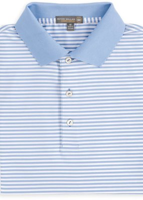 Peter Millar Halford Stripe Stretch Jersey w/ Sean Collar