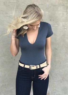 Wasabi & Mint Plunge Bodysuit
