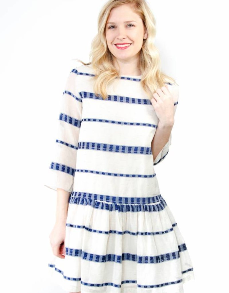 English Factory L/S Shirred Dress