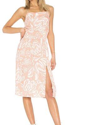 Mink Pink Coral Floral Midi Dress