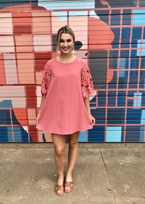 umgee Floral Lace Bell Dress