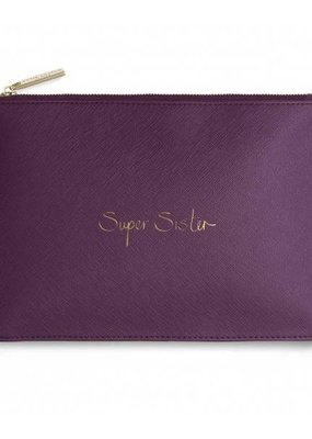Katie Loxton Perfect Pouch Super Sister Purple Berry