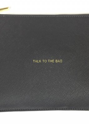 Katie Loxton Perfect Pouch Talk to the Bag Charcoal