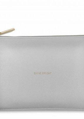 Katie Loxton Shine Bright Pale Grey Perfect Pouch
