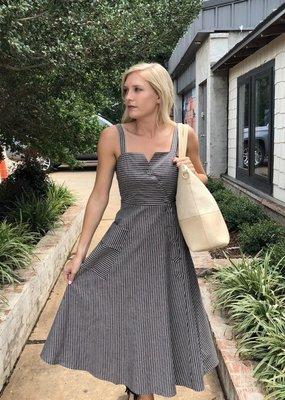 Dress Forum Stripe Midi Dress