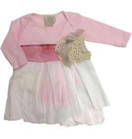 Custom One Piece Pink l/s 6-12mos