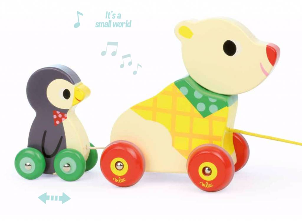 Bear and Penquin Pull Along Toy