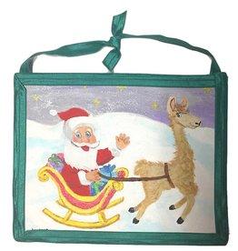 Santa Llama Art