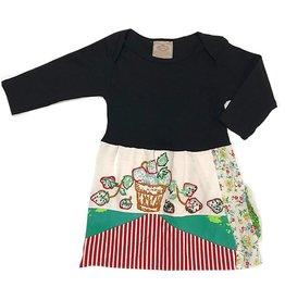 Xmas Dress 12-18mos Black l/s