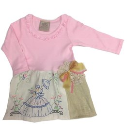 Custom Dress Pink l/s 6-12mos