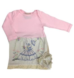 Custom Dress Pink l/s 3-6mos