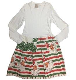 Xmas Dress 10yrs White l/s