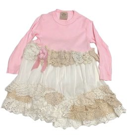 Custom Dress Pink l/s 2-3yrs