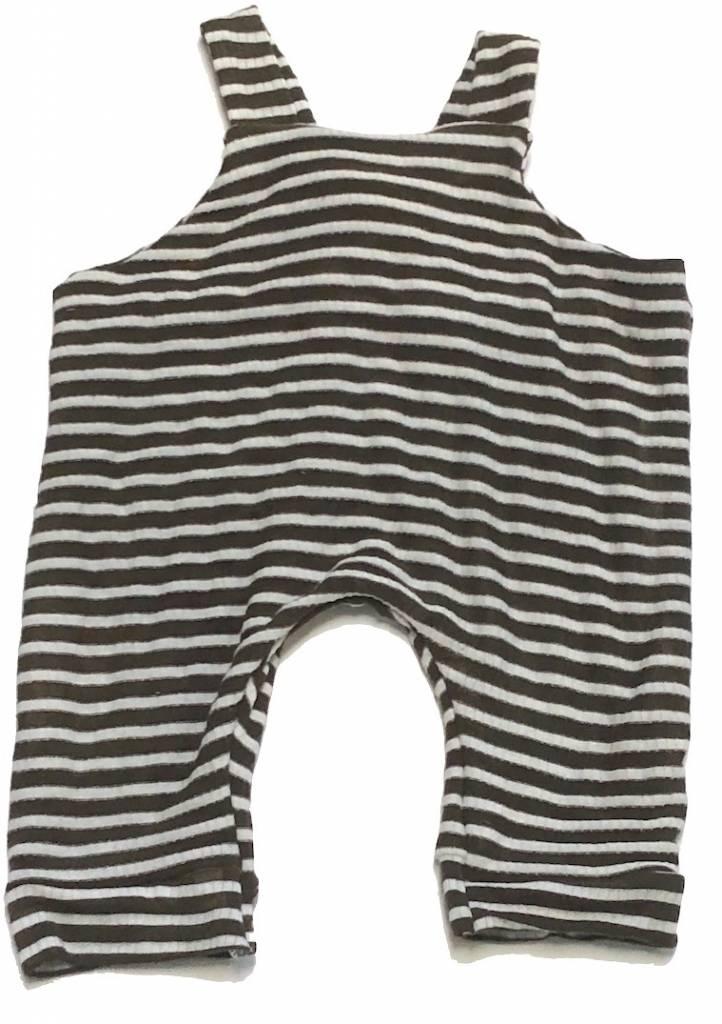 Brown/White Stripe Jersey Romper