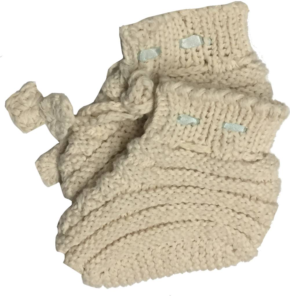 Organic Crochet Bootie