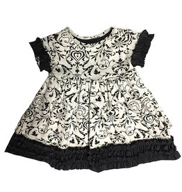 Black Damask Bustle Dress