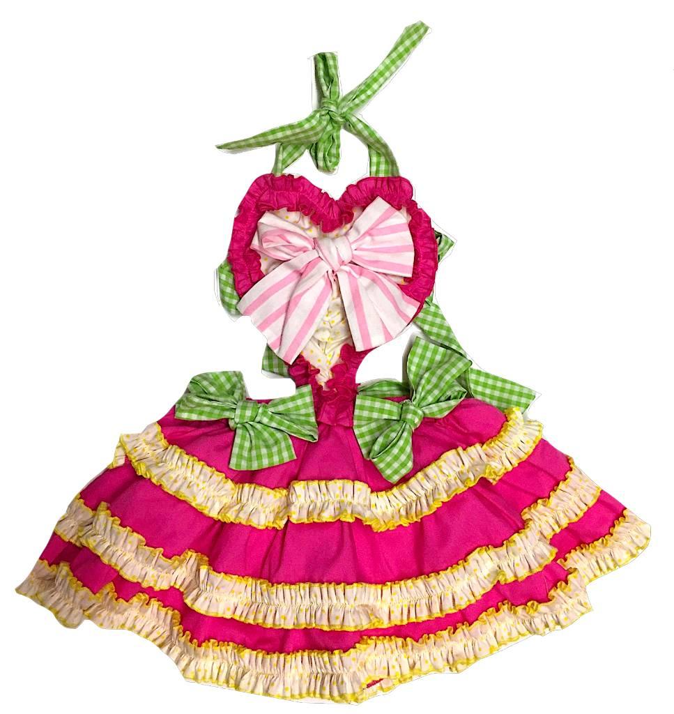 Mille Feuille Heart Dress 2-3yrs