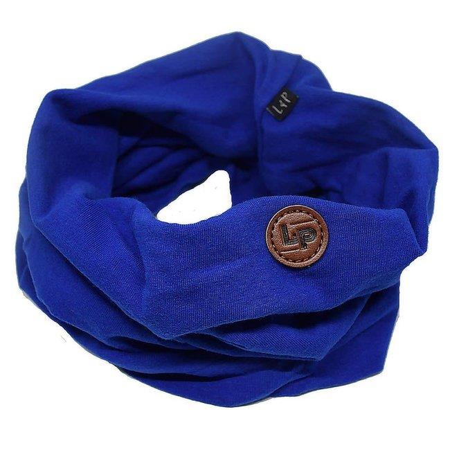 L&P L&P - Foulard de Coton Infinity/Infinity Cotton Scarf, Bleu Royal/Royal Blue
