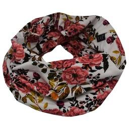 L&P L&P - Foulard de Coton Infinity/Infinity Cotton Scarf, Fleurs/Flowers