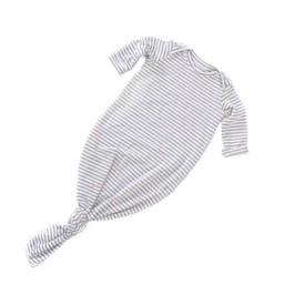 Zak et Zoé Zak et Zoe - Sleep Bag, Gray with White Stripes, 0-6 mois/months