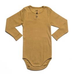 Kidwild Organics Kidwild Organic - Cache-Couche Vintage/Vintage Bodysuit, Ocre/Ochre