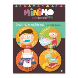 Minimo Minimo - Ensemble D'aimants Double Tâches Quotidiennes/Motivation Magnets Set Double Daily Tasks
